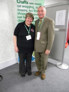Polly with Frank Krane at Crufts